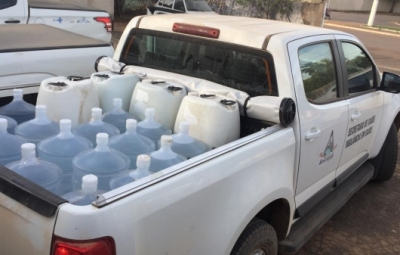 Empresa Eber Bio-energia do Grupo SADA de Montes Claros de Goiás, faz doação de 500 litros álcool 70% para o Município de Araguaiana