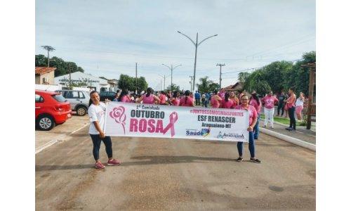 2º Caminhada - Outubro Rosa é realizada em Araguaiana - MT.